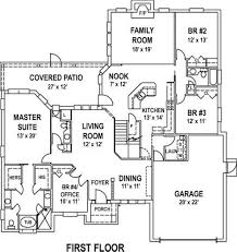 3 bedroom one story tuscan house floor plans