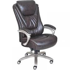 Serta Big And Tall Cantilever Executive Office Chair Dark Mahogany
