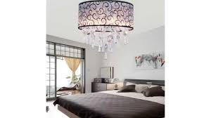 lightinthebox elegant transpa crystal chandelier with 4 lights drum flush mount modern ceiling you