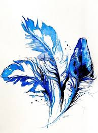 image result for watercolor falling feathers open house