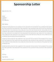 Cover Letter Sponsorship Example Of Sponsorship Letter Qoopon Co