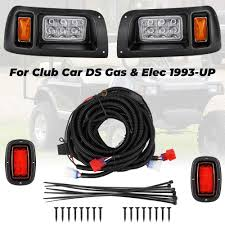 Lights Wont Work On Club Car Golf Cart Kemimoto Club Car Ds Light Kit Led Headlight Tail Light For Gas Electric Club Car Ds Golf Carts 1993 Up 12v