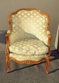 vintage carved french louis xv style barrel back sage bergere accent chair down frenchprovinciallouisxvstyle unknown