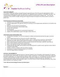 Home Health Care Job Description For Resume Lvn Resume Sample Examples Of Lpn Resumes Unbelievable Design 16
