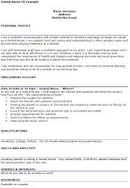 Dental Nurse Cover Letters Dental Nurse Cv Example Cover Letters And Cv Examples
