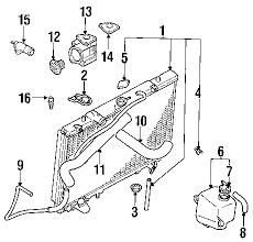parts com® mitsubishi montero engine oil cooler oem parts diagrams 2002 mitsubishi montero limited v6 3 5 liter gas engine oil cooler