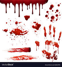 Blood Spatter Patterns Magnificent Blood Spatters Realistic Bloodstain Patterns Set Vector Image