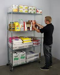 nsf 4 layers restaurant kitchen shelf stainless steel metal wire shelving rack factory