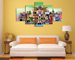 Dragon Ball Z Decorations Free shipping60 PiecesNo Frame Dragon Ball Z Decor Prints 7