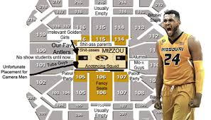Mizzou Arena Concert Seating Chart Judgmental Map Of Mizzou Arena