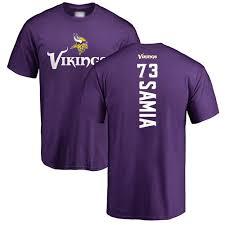 73 T-shirt Football Vikings Dru Minnesota Samia Purple Backer Jersey -