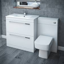 White Bathroom Suite Nova High Gloss White Vanity Bathroom Suite W1300 X D400 200mm