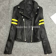 Us 150 0 Factory Genuine Leather Punk Jacket Women Sheep Skin Coat Real Leather Big Brand Garment Female Suit Zipper Outwear Motorbycle In Leather