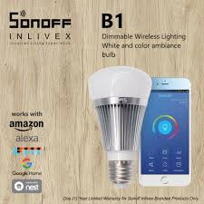 sonoff b1 dimmable e27 led lamp rgb color light bulb