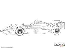 Takuma Sato Lotus 2010 Indy Auto Kleurplaat Gratis Kleurplaten Printen