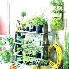herb garden stand plant wood stands outdoor