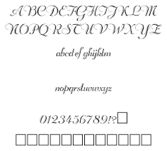無料素材 二重線の筆記体のカリグラフィーフォントエレガントで