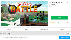 if you see any you can go ahead and play right away if you would like to create a new one this can be done by ing the blue create vip server on
