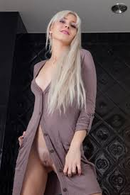 Platinum Blonde Janelle B with Coin Slot Pussy from Met Art.