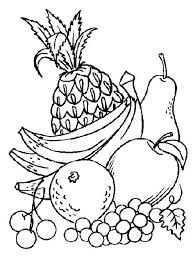 Coloring Pages Fruit Coloring Pages Of Vegetables Coloring Pages Of