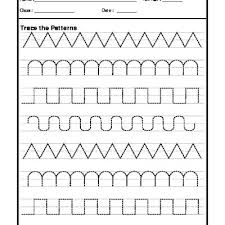 Writing Patterns Unique Tracing Patterns Worksheets
