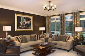 how to decorate a living room with chocolate brown walls