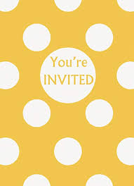 Polka Dot Invitations Yellow Polka Dot Party Invitations 8ct