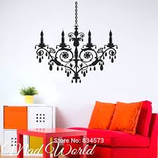 chandeliers chandelier wall art target mad world crystal chandelier silhouette wall art sticker decal home