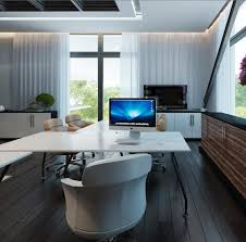 couple of bonsai trees adds some zen mood to this contemporary styled home office add bonsai office interior