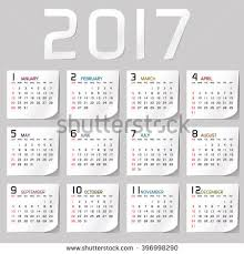 Small Picture 2017 Calendar Stock Images Royalty Free Images Vectors