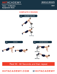 chest hiit workout