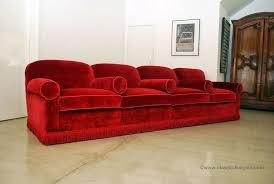 red velvet sofa ottoman sofa
