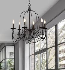 lighting industrial. CLAXY Ecopower Lighting Industrial Vintage 6-lights Candle Chandeliers - Amazon.com A