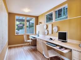an inspiring long wooden two person desk home office completed with two unique computer chairs also