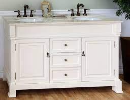 60 Inch White Double Sink Bathroom Vanity
