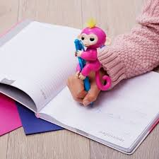 WowWee Fingerlings Interactive Baby Monkey Bella (Pink with Yellow ...