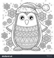 Merry Christmas Jolly Penguin The Detailed