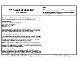 sound of thunder by ray bradbury annotation organizer tpt sound of thunder by ray bradbury annotation organizer
