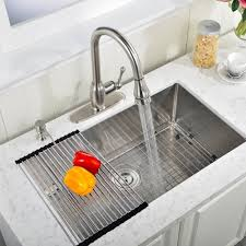 vapsint commercial 30 inch 18 gauge 10 inch deep handmade drop in undermount single bowl stainless steel kitchen sinks including dish drying rack and dish