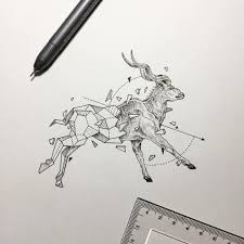 Small Picture Geometric Beasts Antelope Greater Kudu Kerby Rosanes
