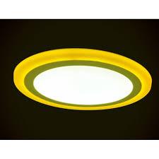 Đèn led nổi ốp trần 24w tròn 2 màu 3 chế độ ánh sáng trắng vàng