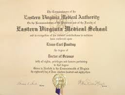 Eastern Virginia Medical Authority Diploma Doctor Of Science