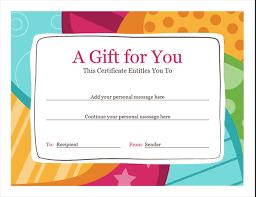 Gift Certificate Maker Free Fascinating Birthday Gift Certificate Designs Blank Certificates