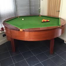 reduced rare round rotapool mahogany pool table