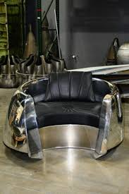 This beautiful custom piece of aviation furniture is a chair is ...