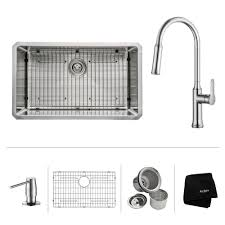 all in one undermount stainless steel 30 in single bowl kitchen sink with