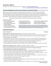 Logistics Manager Resume Template Top Supply Chain Resume Templates