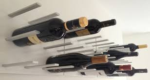 furniture contemporary wall wine rack  best modern wall wine