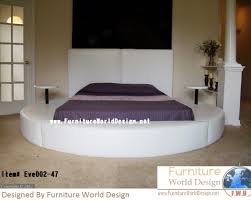 Eve Leather Round Bed Made and Design by Furniture World Designe.  www.furnitureworlddesign.net