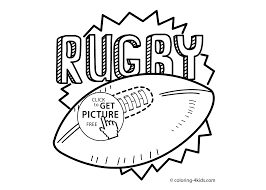 Rugby Sport Coloring Page For Kids Printable Free 2